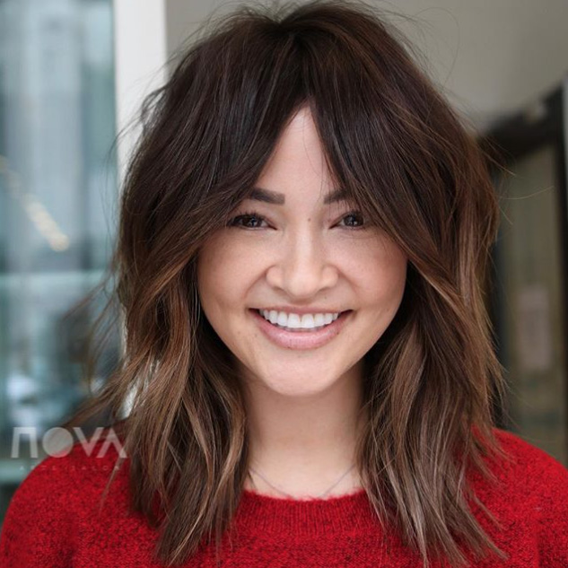 Oval Face 2019 Long Layered Hair With Bangs 2019 97