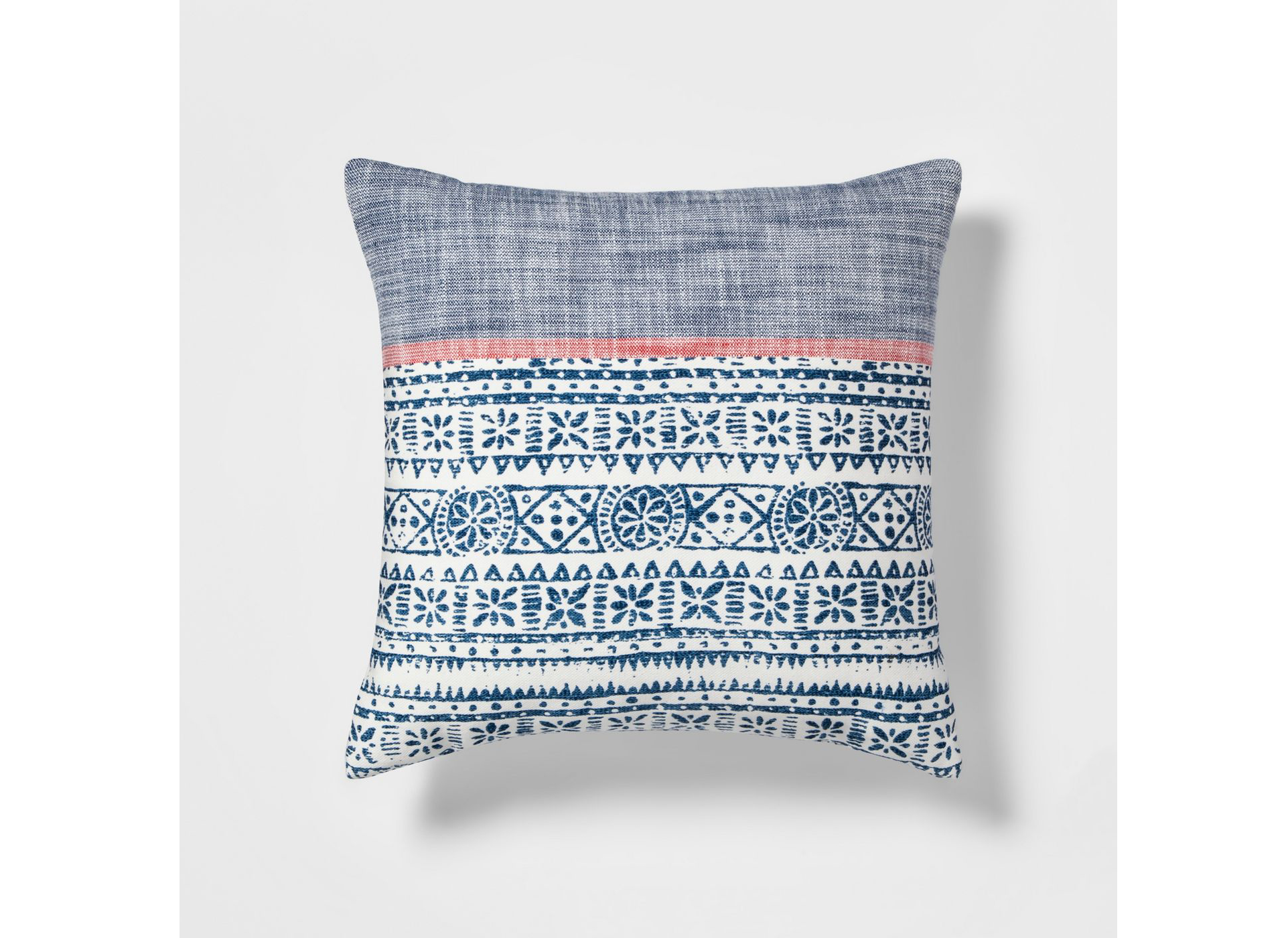Block Print Square Throw Pillow Blue/White – Threshold