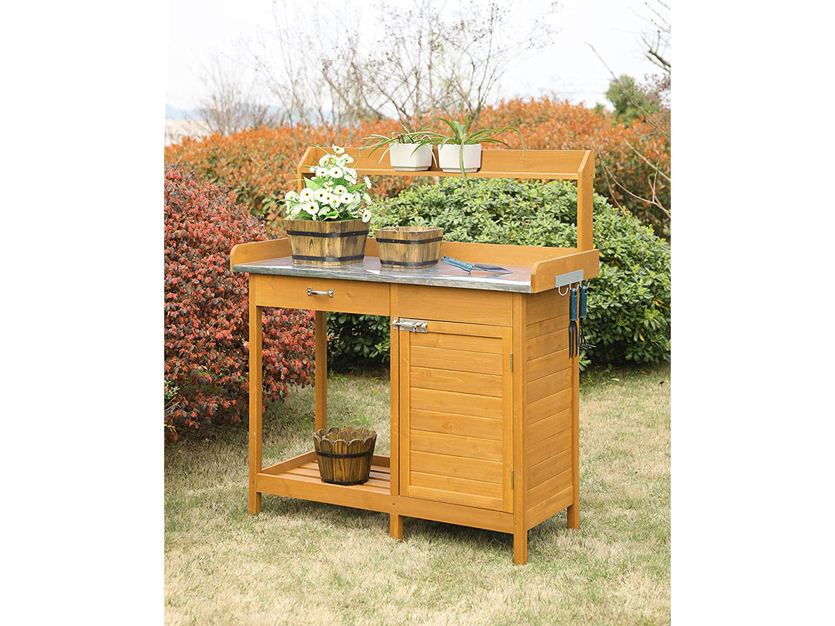Convenience Concepts Potting Bench With Cabinet