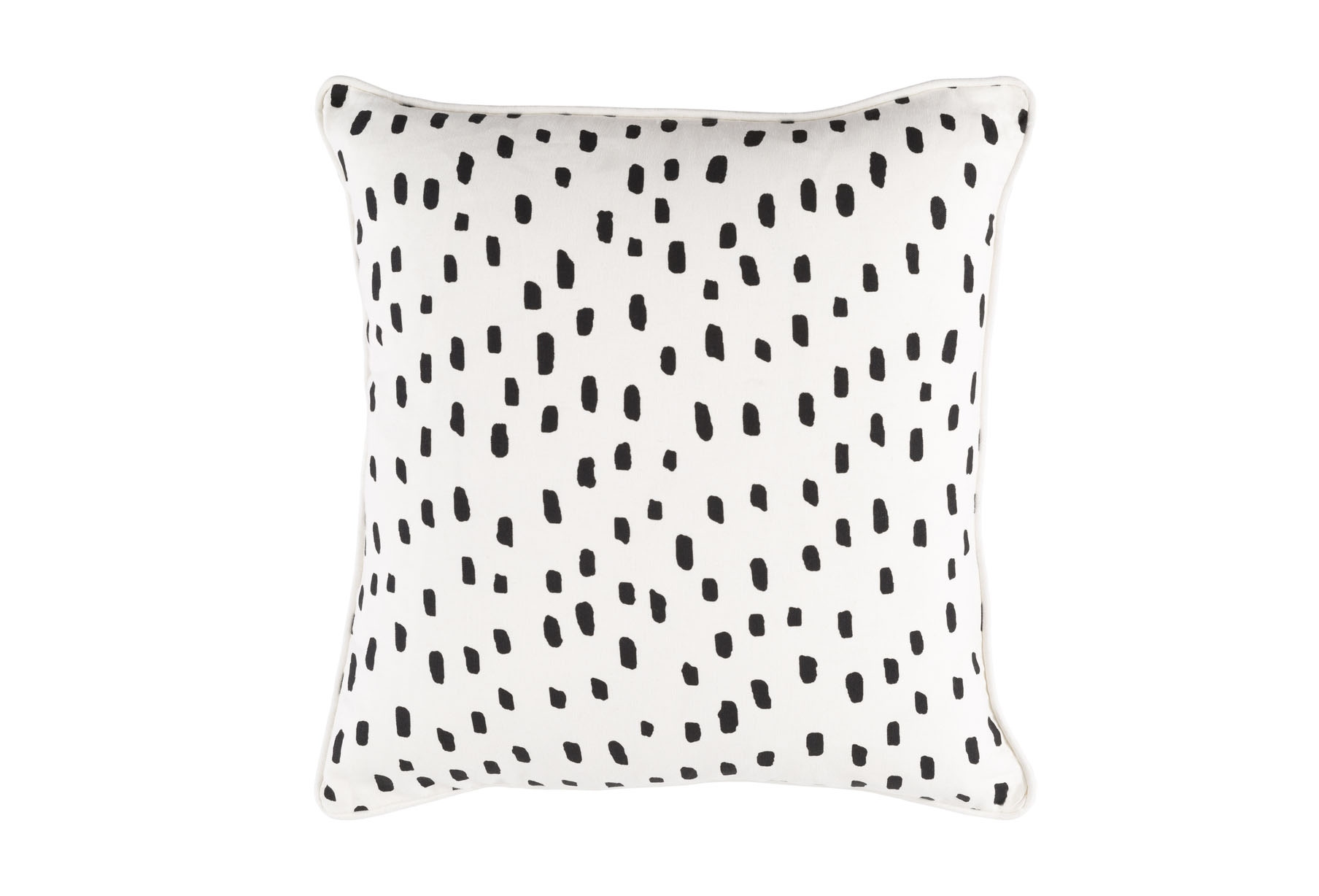 Dalmatian Pillow in Black