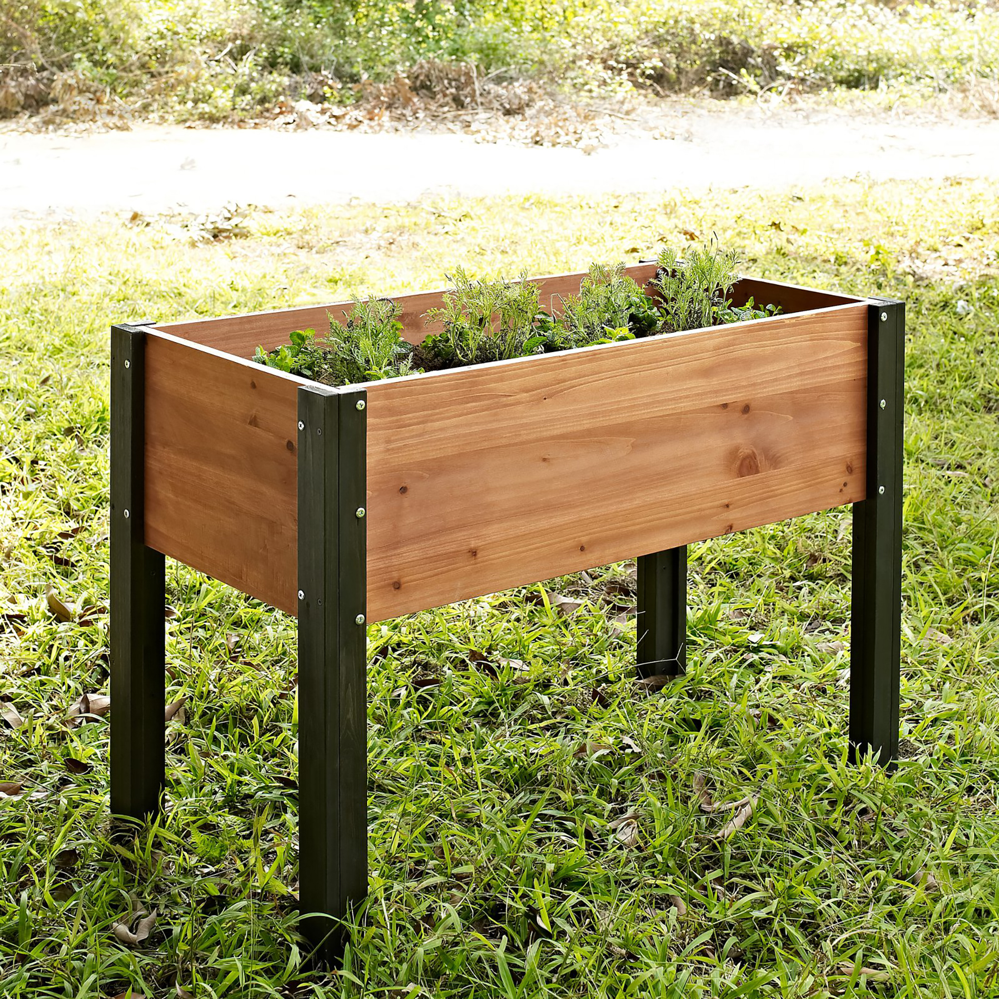 Coral Coast Bloomfield Wood Raised Garden Bed