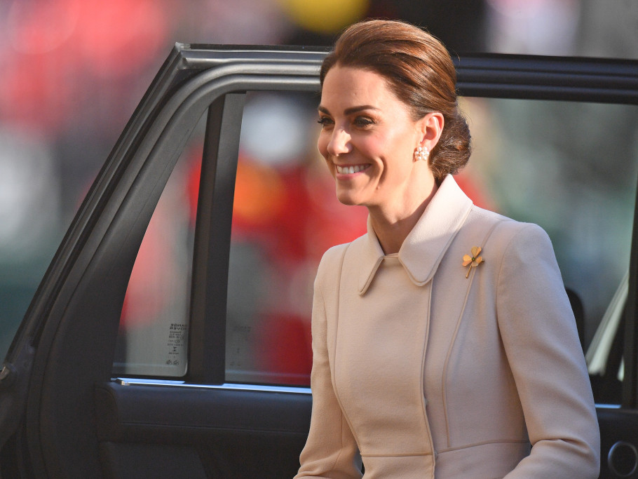 Kate Middleton Steps Out to Honor Troops as She Takes the Salute at Spectacular Military Parade gettyimages-1148400762