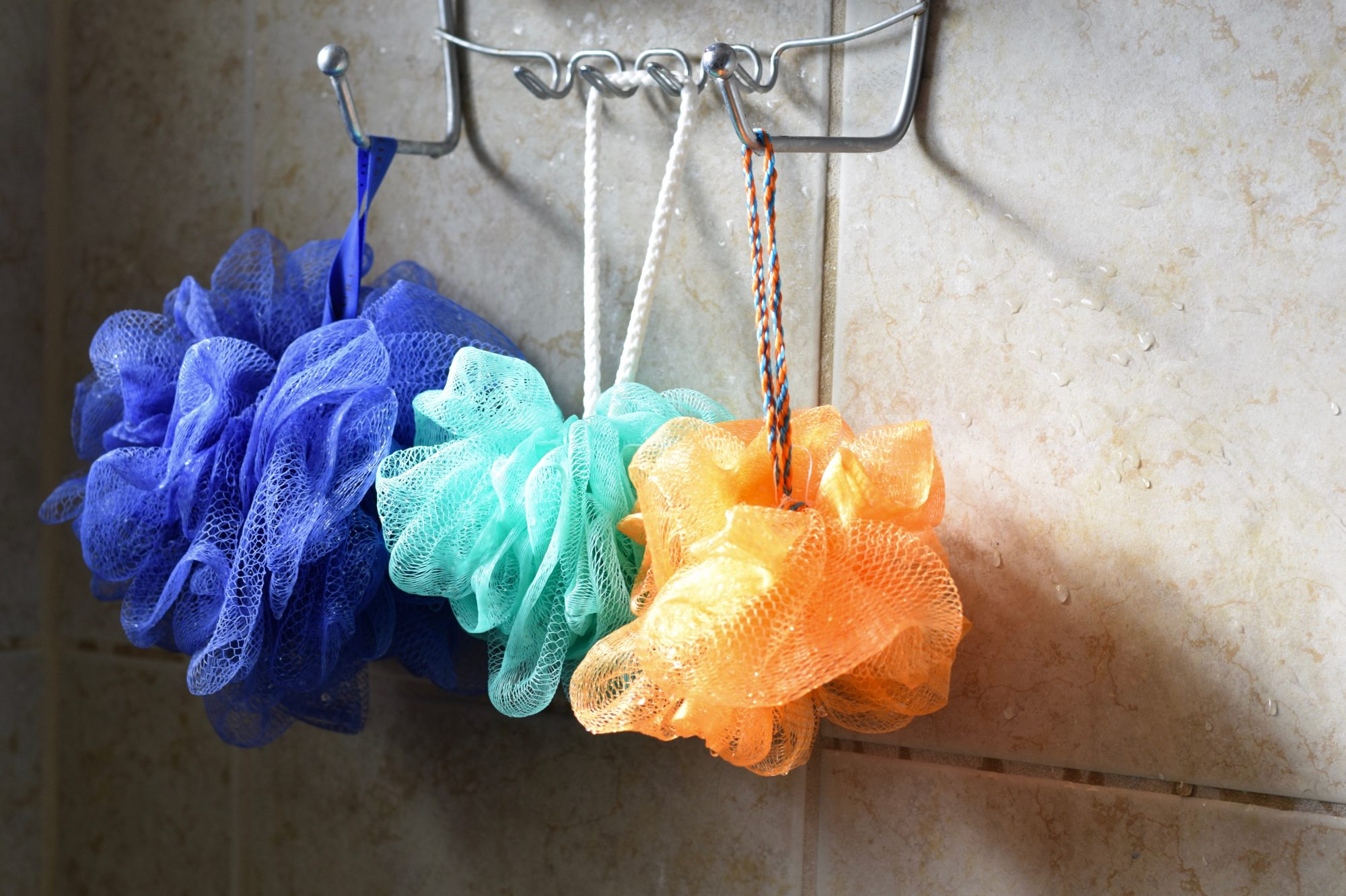 Loofahs in Shower