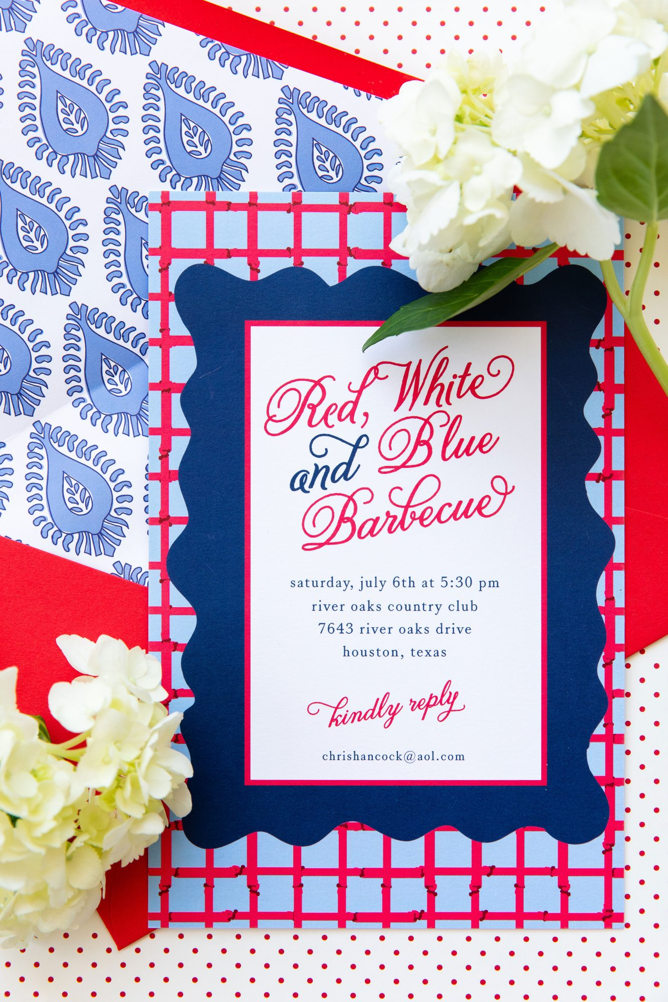 Katie Jacobs and Mary Huddleston 4th of July Cookout Party Invitations