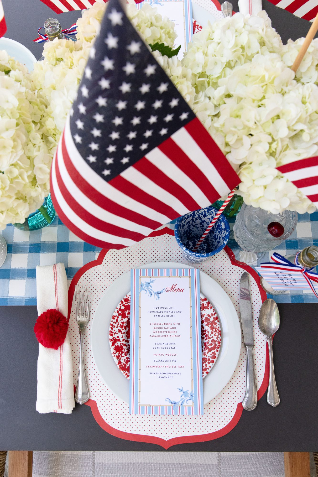 Katie Jacobs and Mary Huddleston 4th of July Table Setting