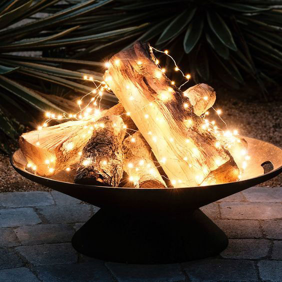 Twinkling Lights Bonfire