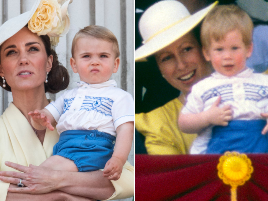Prince Louis Rewears Outfit Prince Harry Wore to One of His First Trooping the Colour Outings louis
