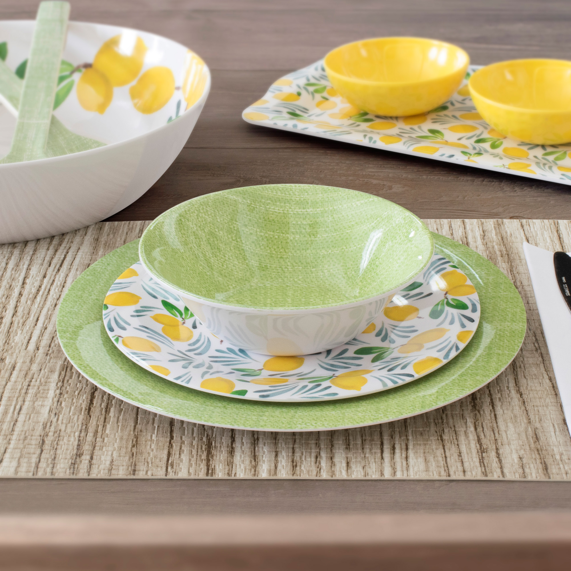 Mainstays Outdoor Melamine Dinnerware Set, 12-Piece