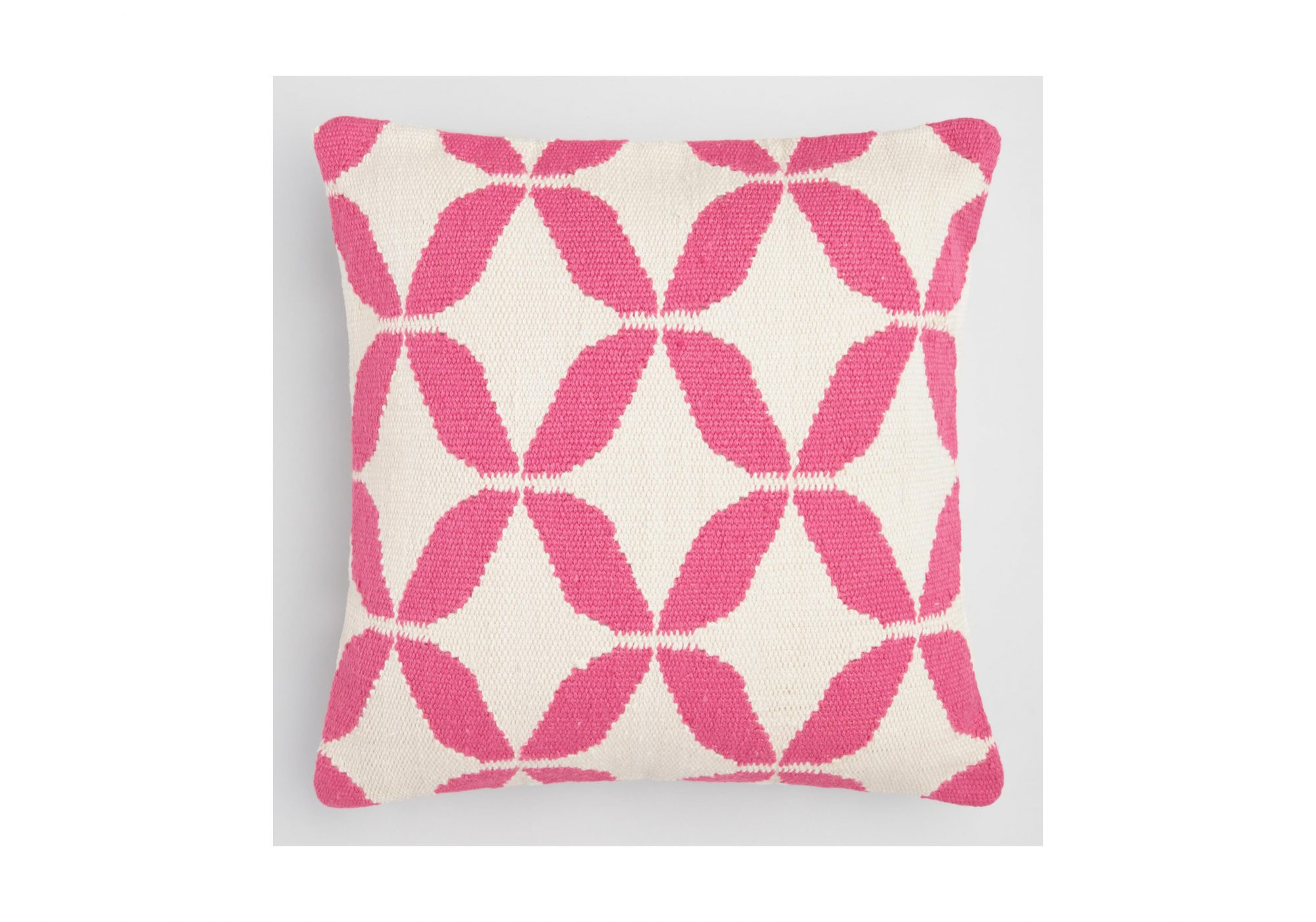 Pink Petals Woven Indoor Outdoor Throw Pillow
