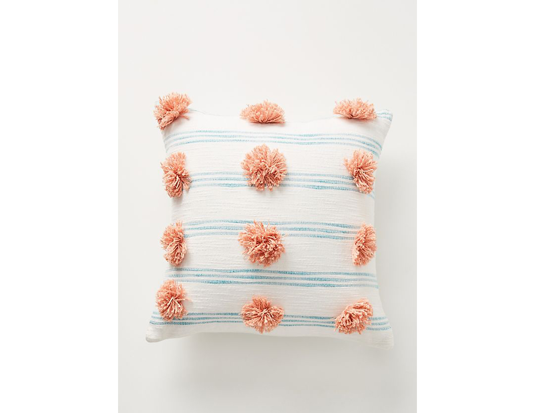 Pommed Felicity Pillow in Turquoise