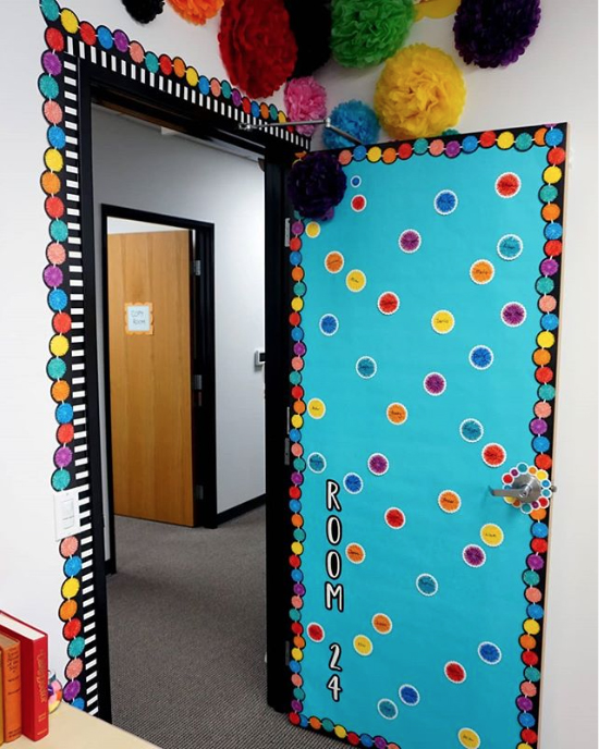 Colorful Pom-Pom Door