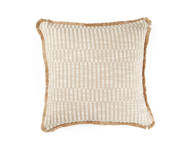 Southern Living Spring Collection White Pepper Stripe Square Pillow