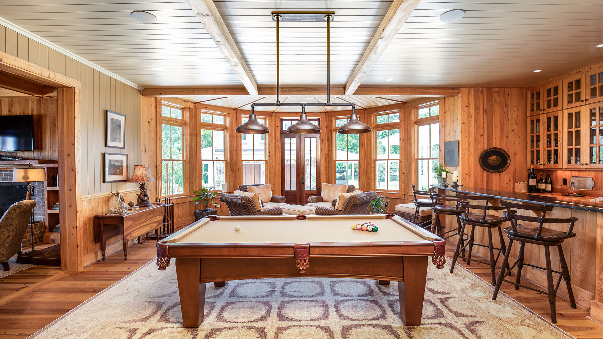 Thomas Hall Plantation Johns Island SC Billiards Room