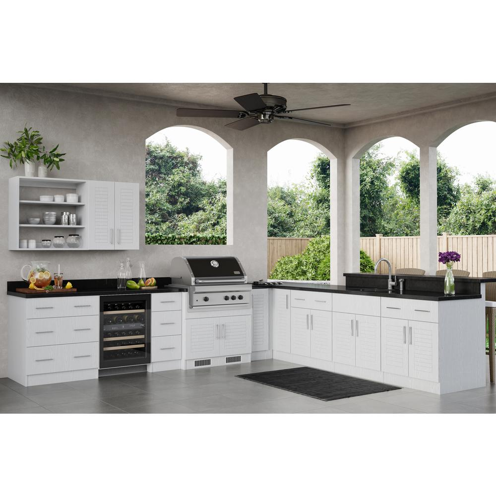 WeatherStrong Key West Open Back Outdoor Kitchen Cabinet