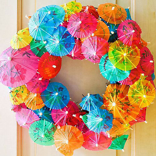 Cocktail Umbrella Wreath
