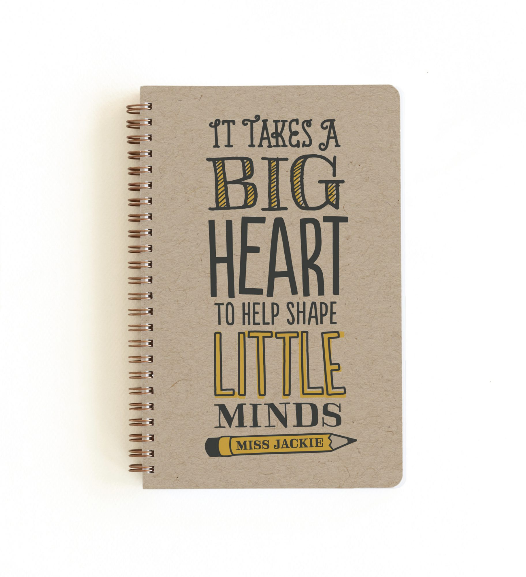 minted. Teacher's Big Heart Notebooks by Jessie Steury, from $16