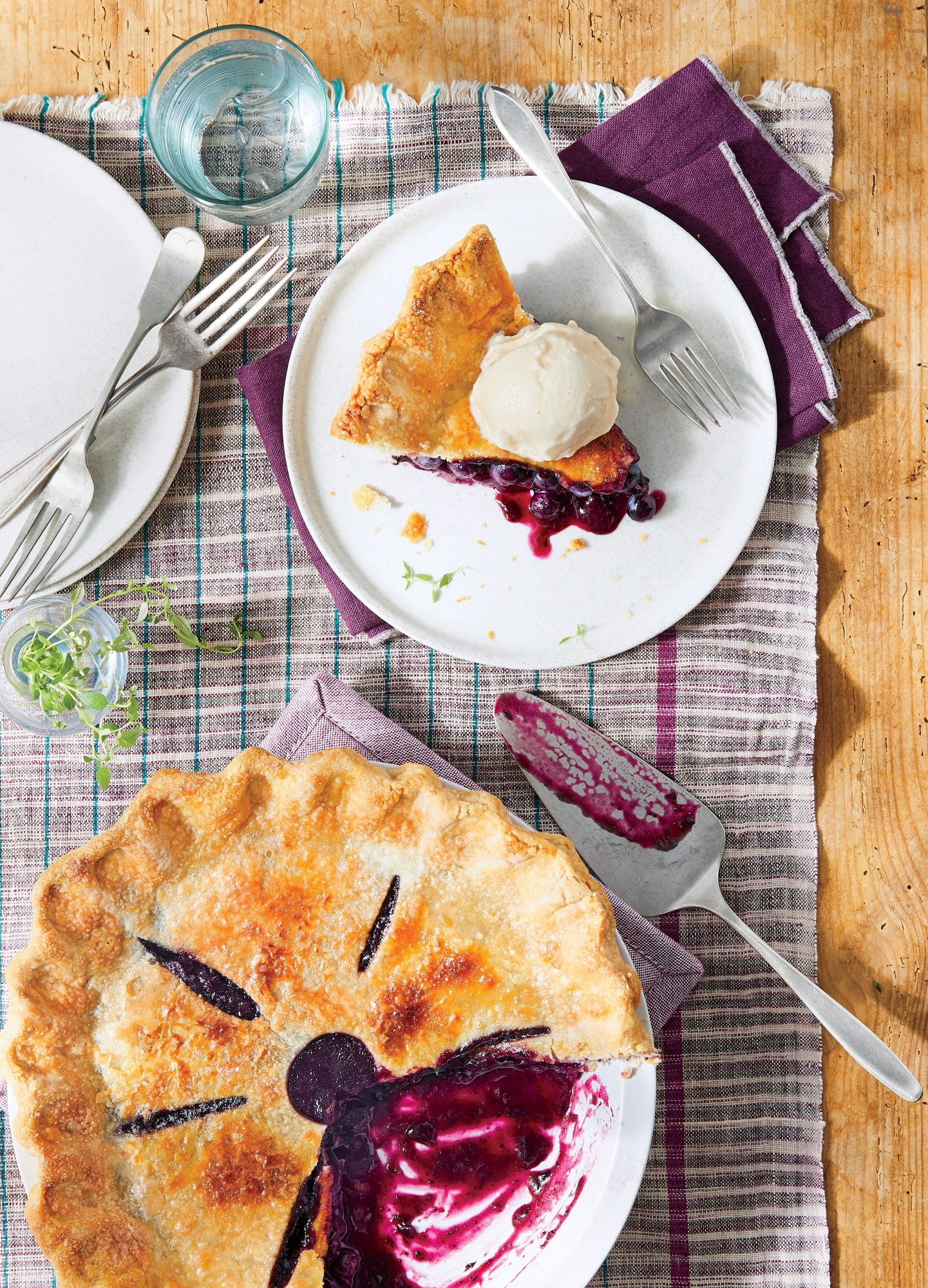 Blueberry-Thyme Pie Recipe