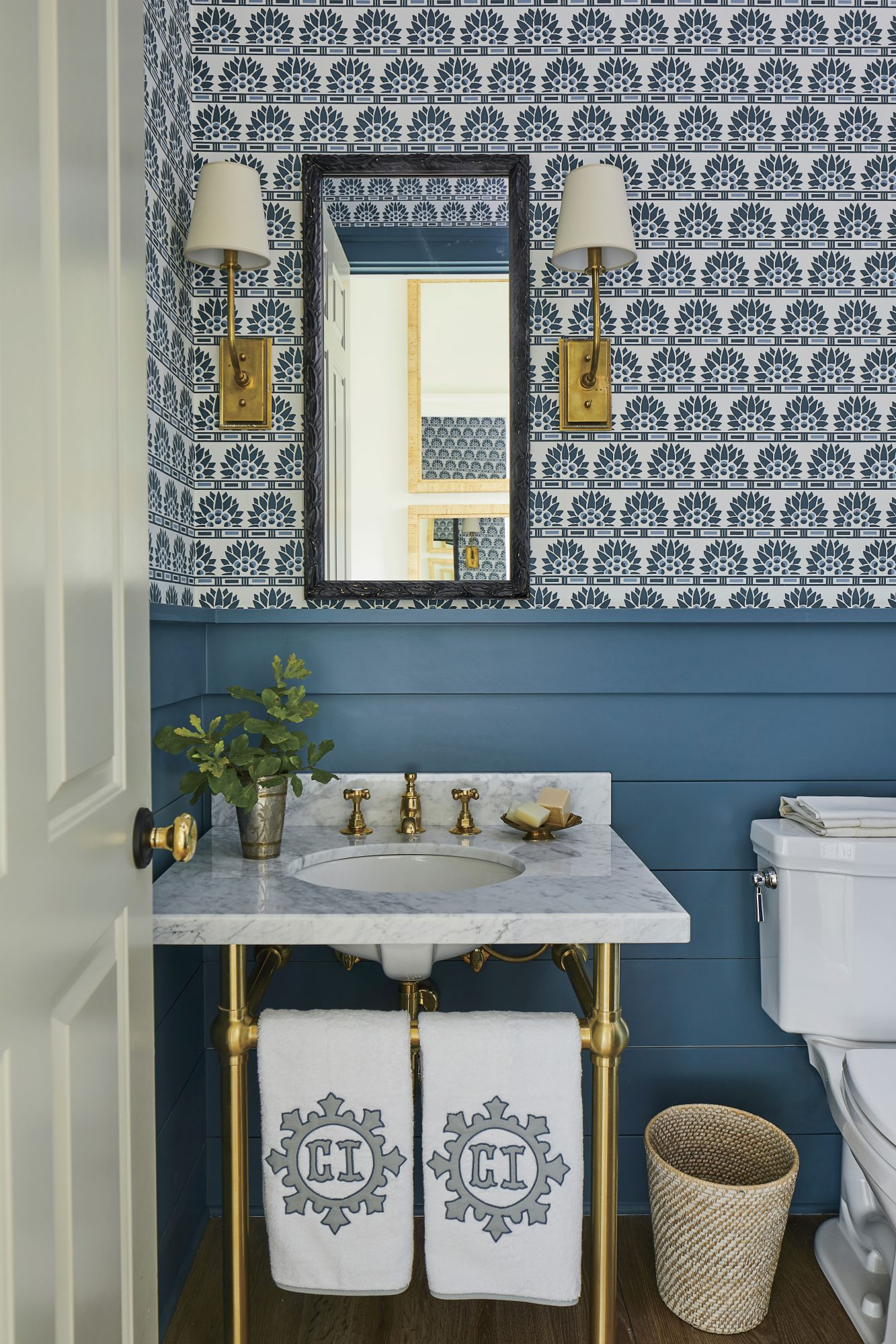 2019 Idea House Blue Powder Room