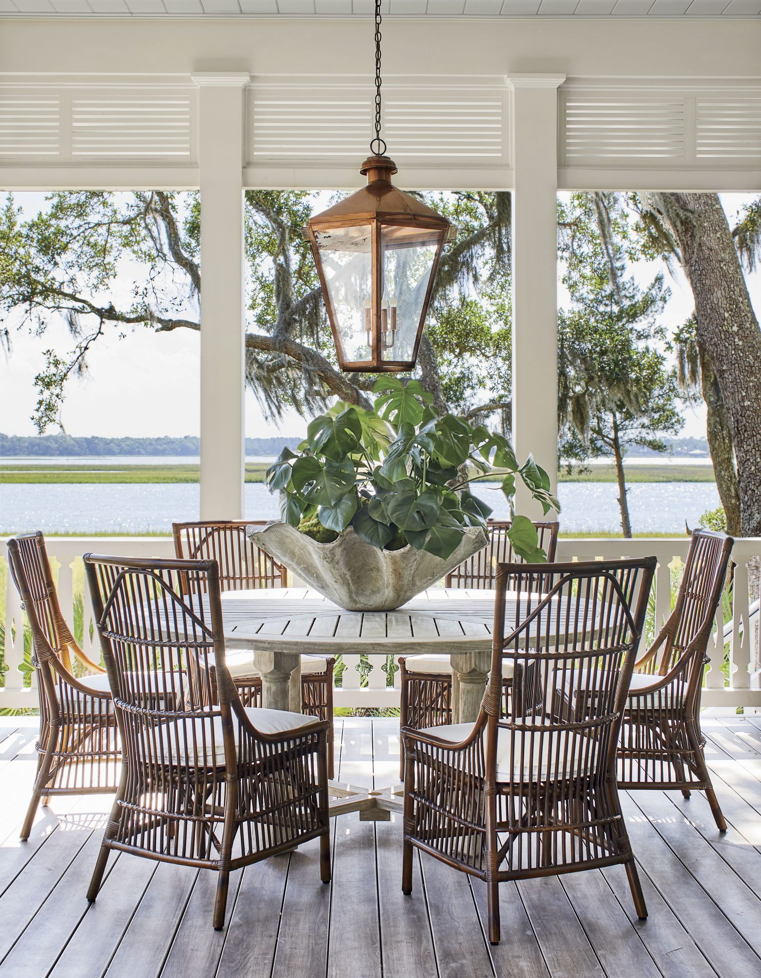2019 Idea House Porch Dining Area