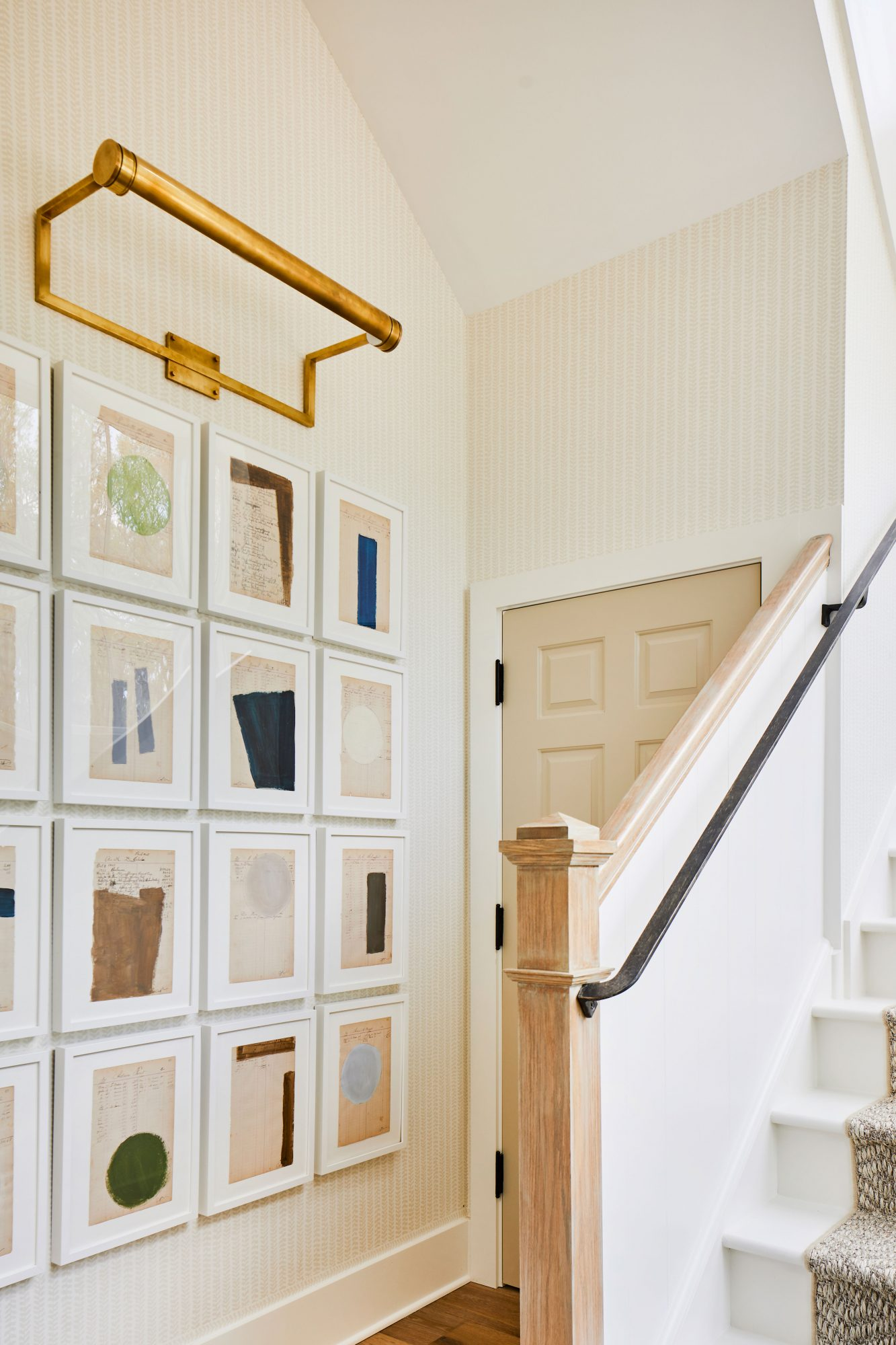 2019 Idea House Stair Gallery Wall