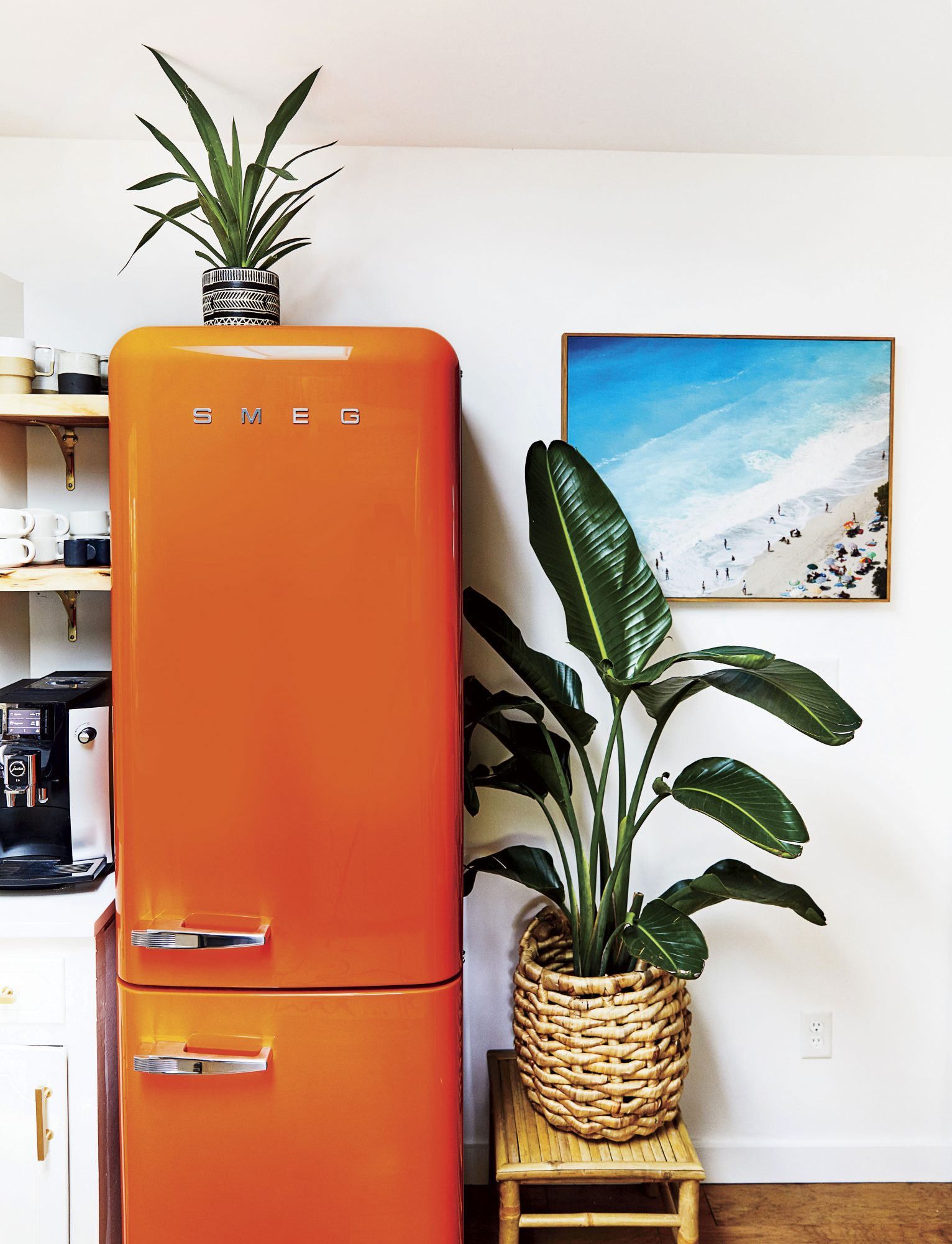 Chelsea Meissner Kitchen with Orange Fridge