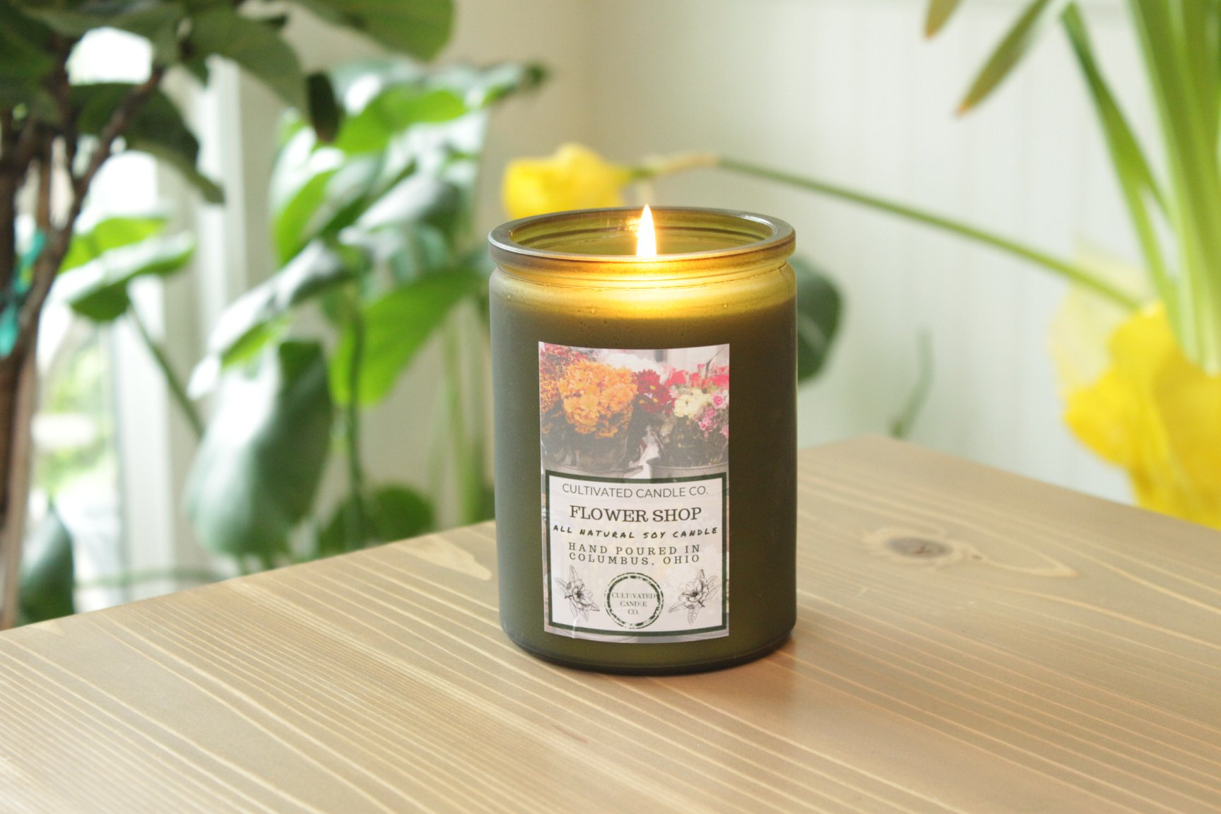 Cultivated Candle Co. Flower Shop Candle, $18