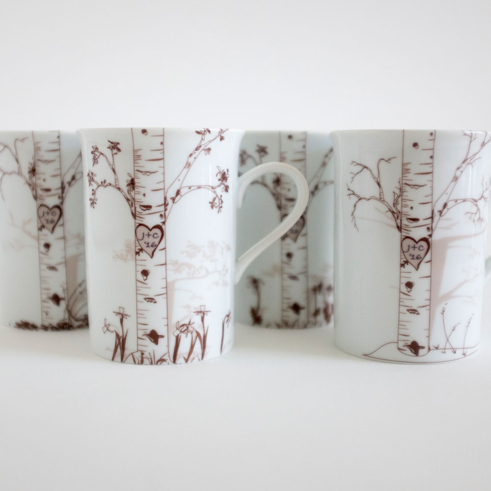Rust Designs Personalized Birch Mugs, $62