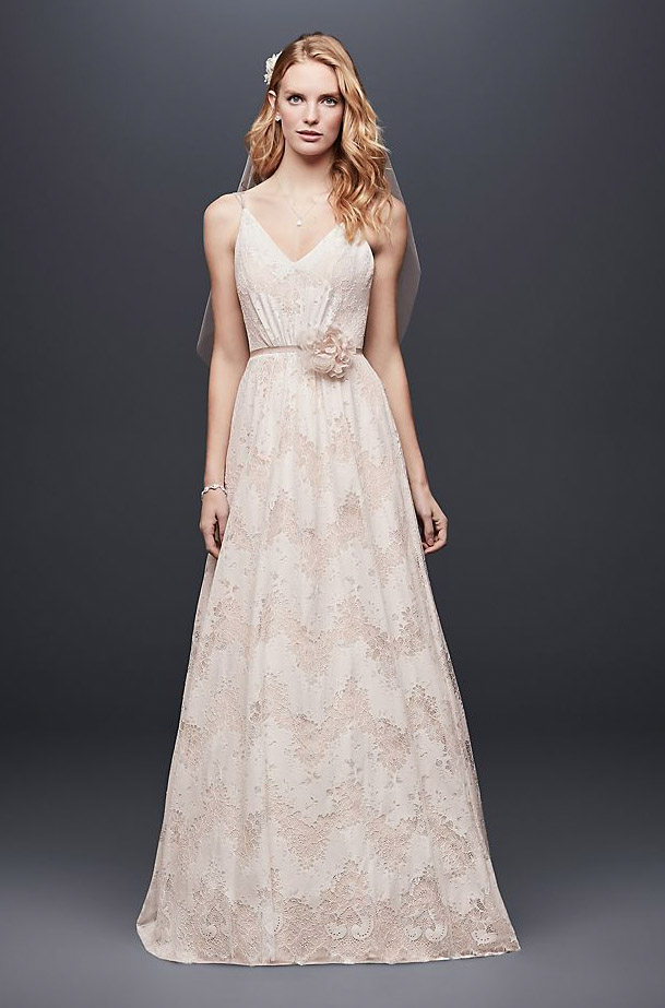 All-Over Lace Blush Gown