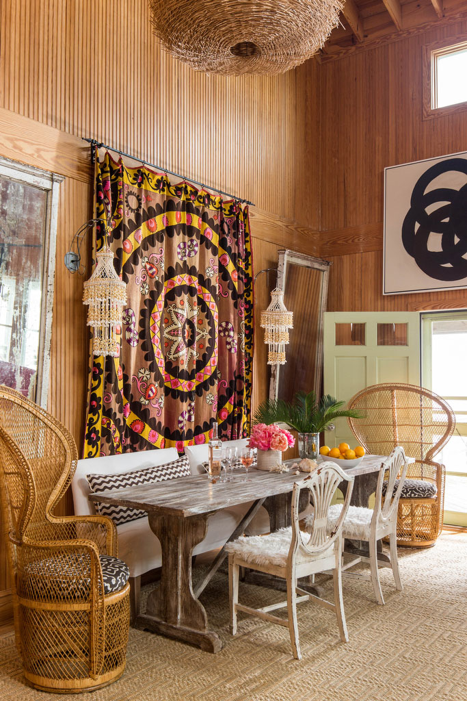 Janie Molster Seating Area with Suzani Wall Decor