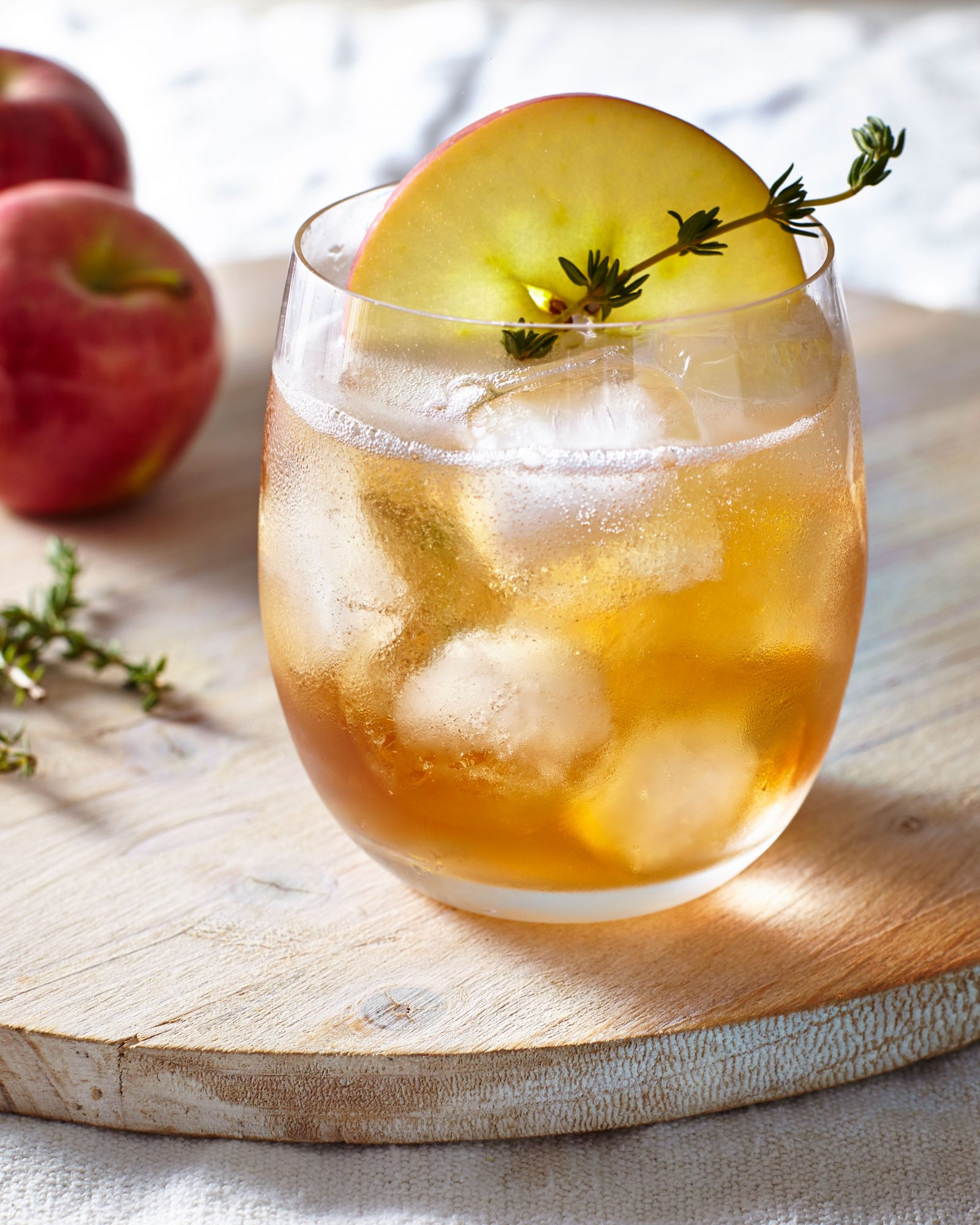 Bourbon Apple Cider Thyme Punch