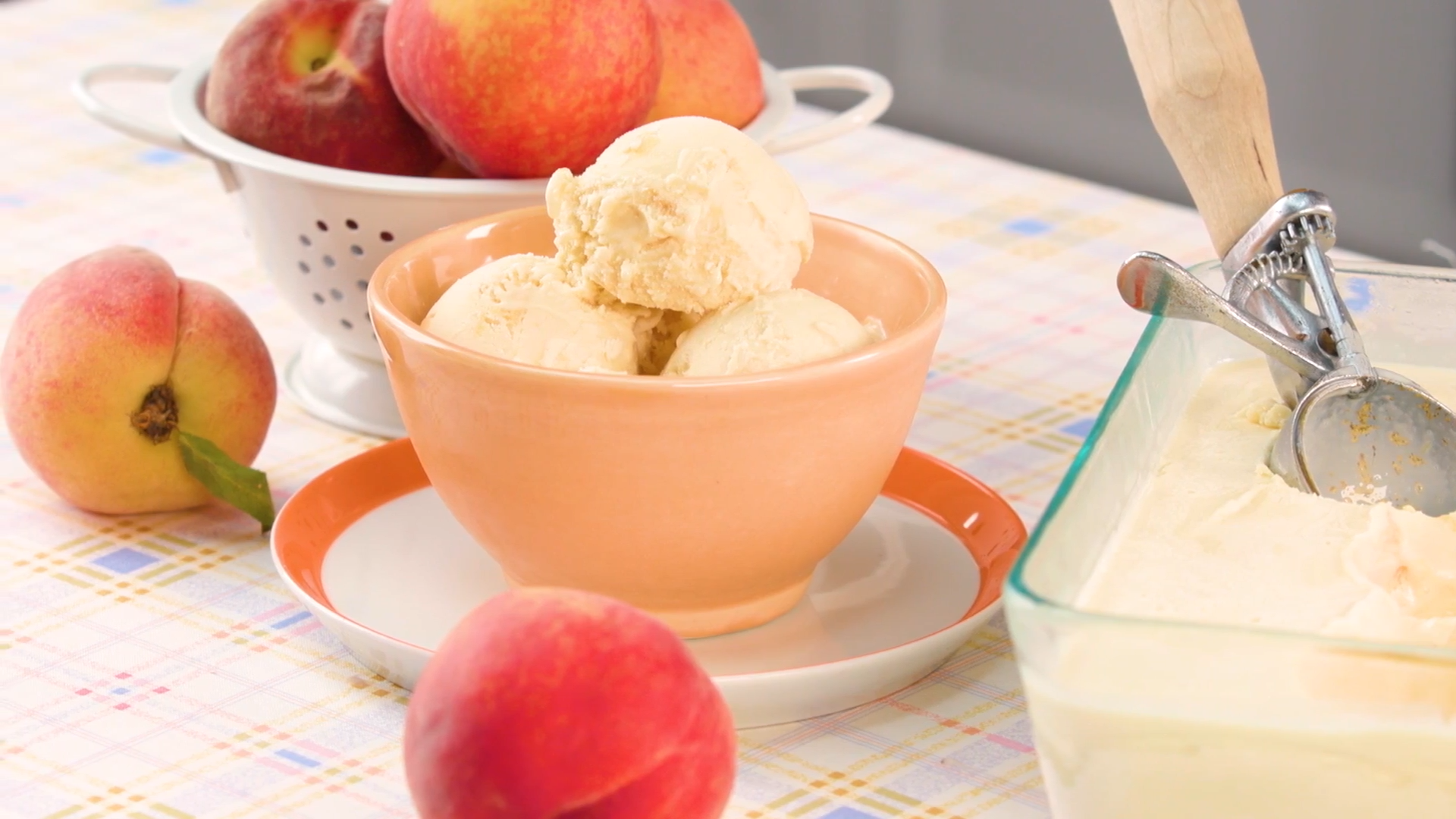 Fresh Peach Ice Cream
