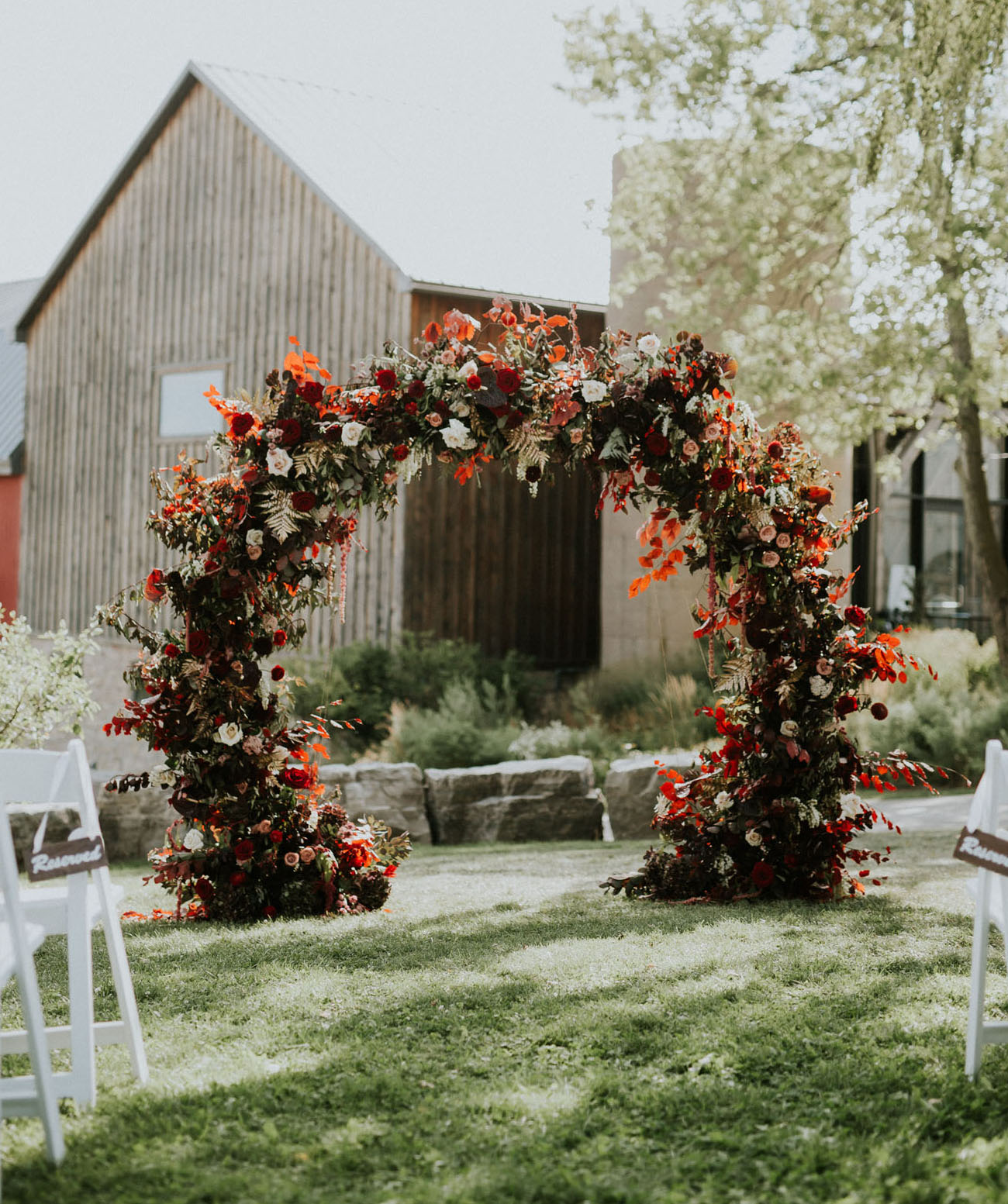 Deeply Seasonal Ceremony Arch