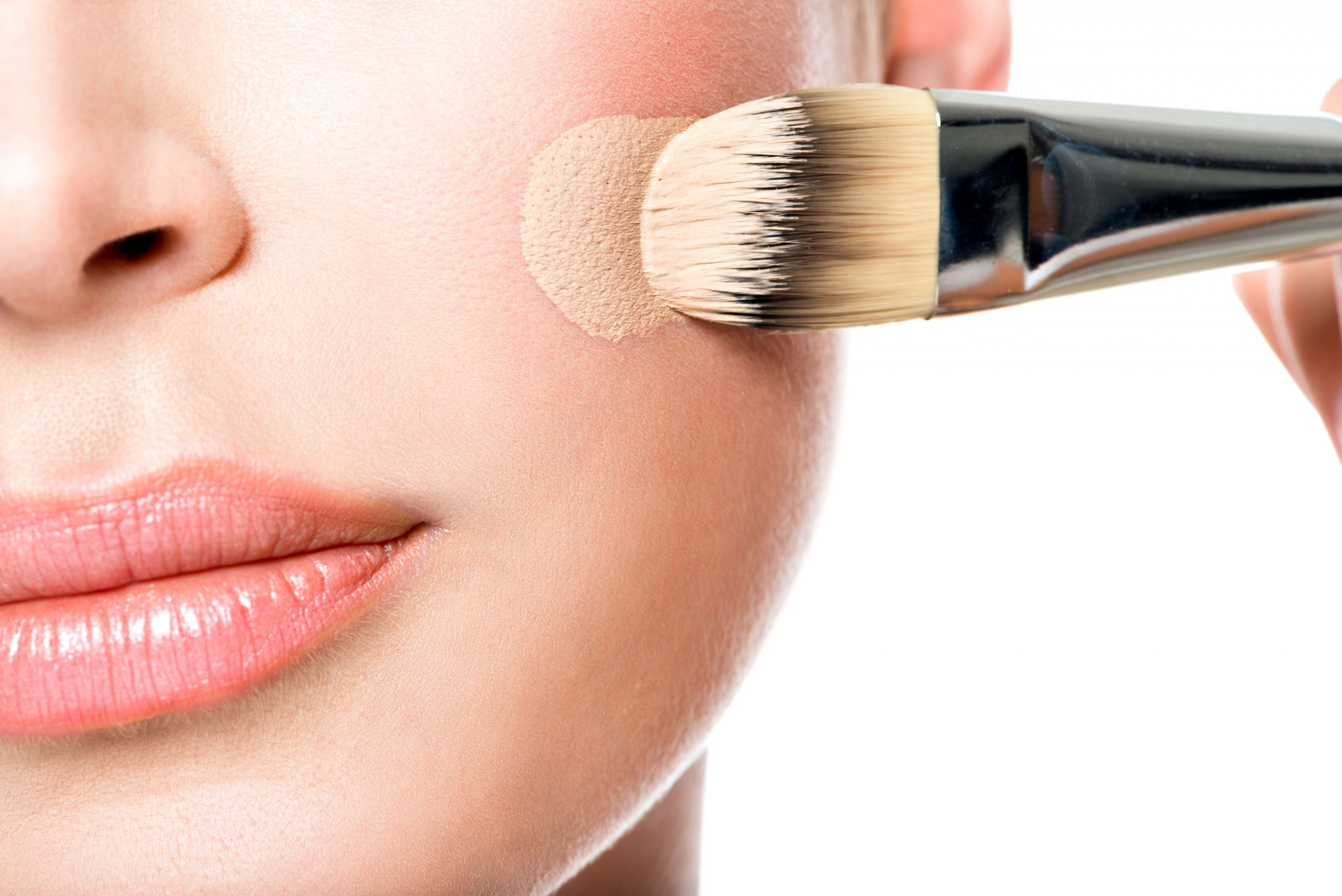 Generic Woman with Tinted Moisturizer on Cheek