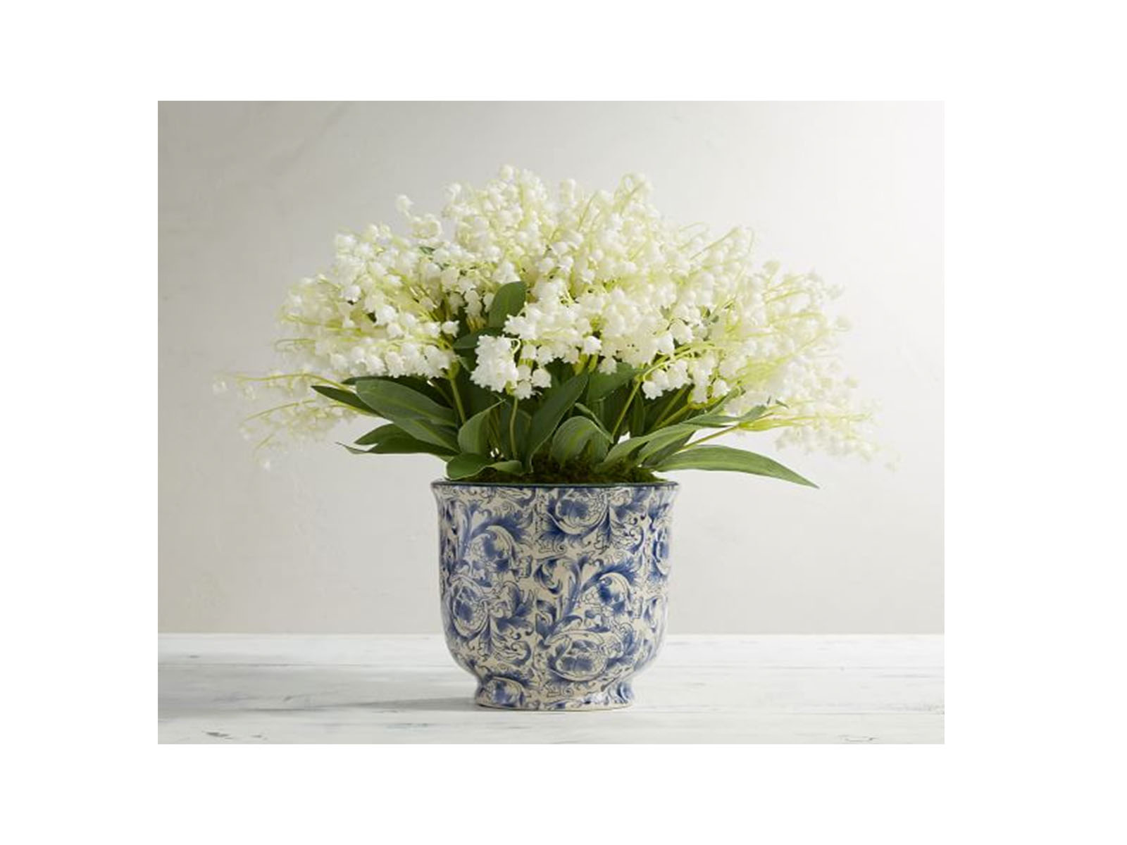 Faux Lily of the Valley in Pot