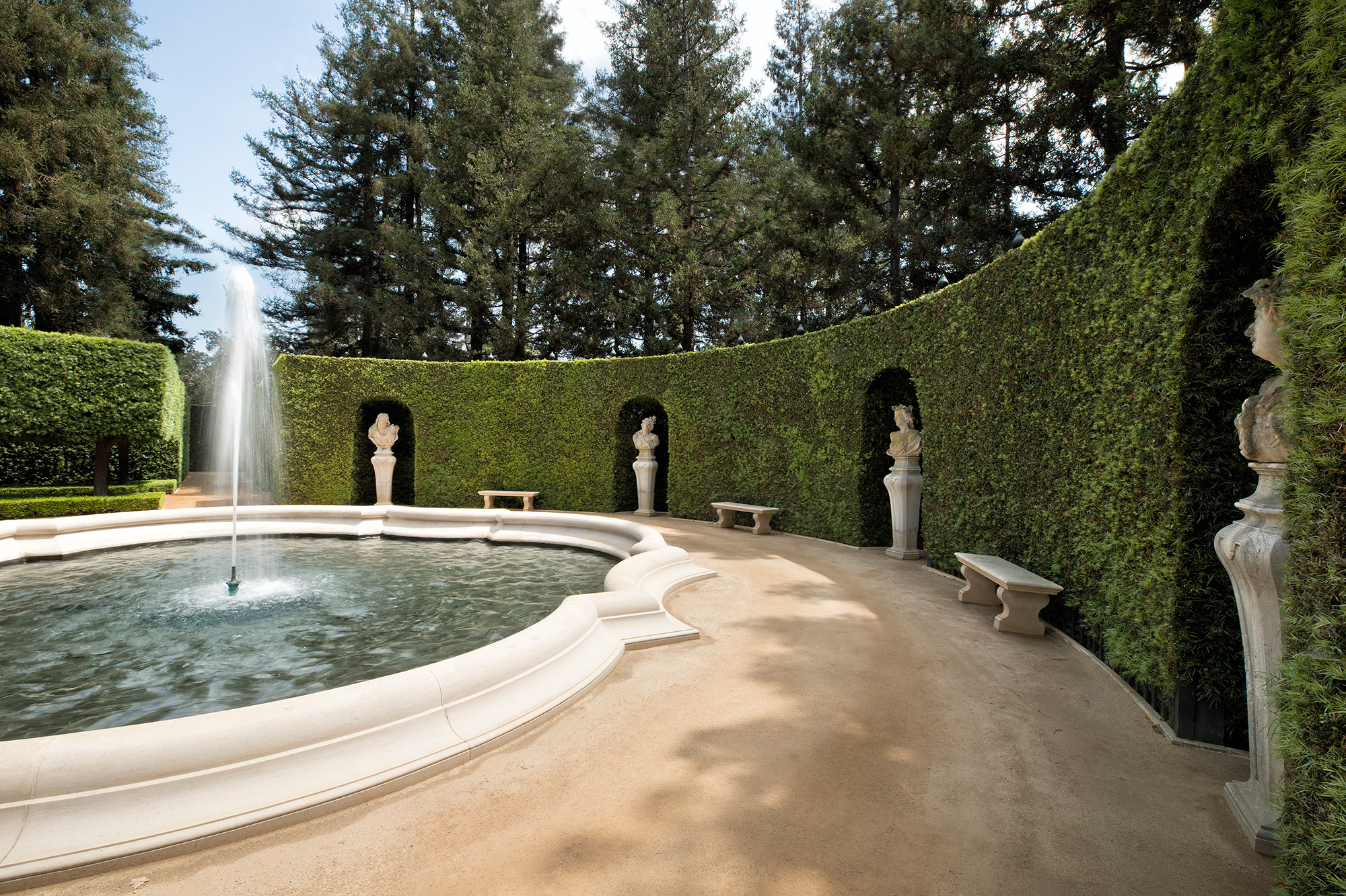 The Real Beverly Hillbillies Mansion for Sale in Bel-Air Just Got a $50 Million Price Chop most-expensive-home-america-fountain