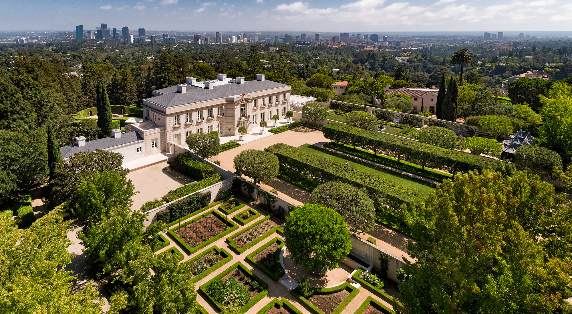 The Real Beverly Hillbillies Mansion for Sale in Bel-Air Just Got a $50 Million Price Chop most-expensive-home-in-america-exterior