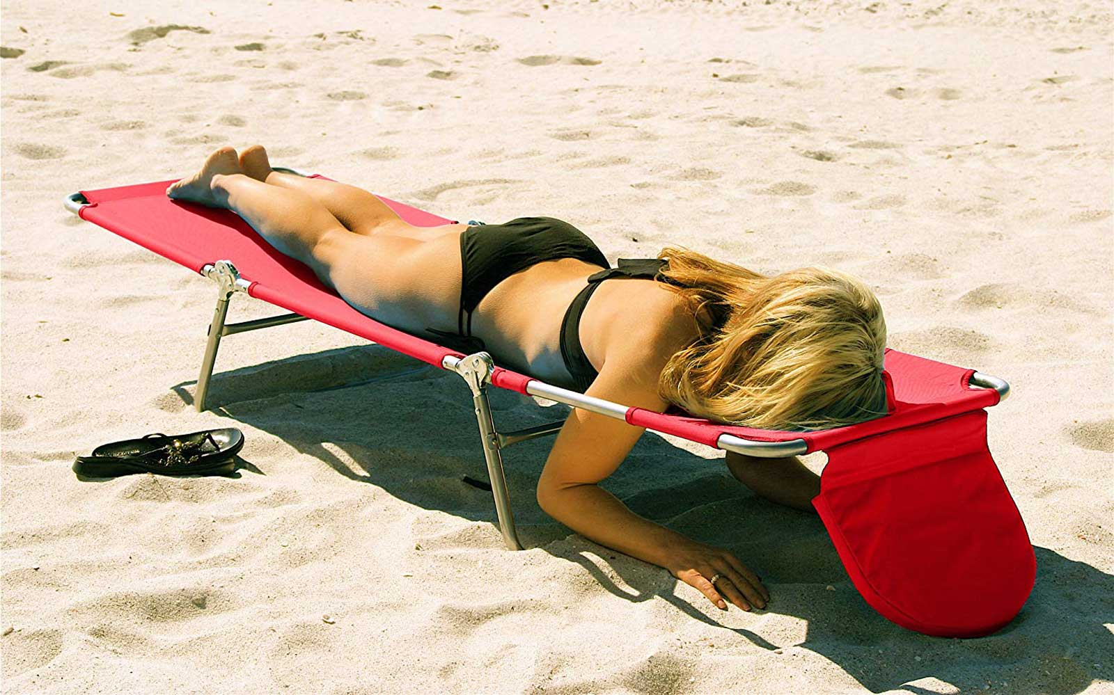 Beach lounge chair for reading