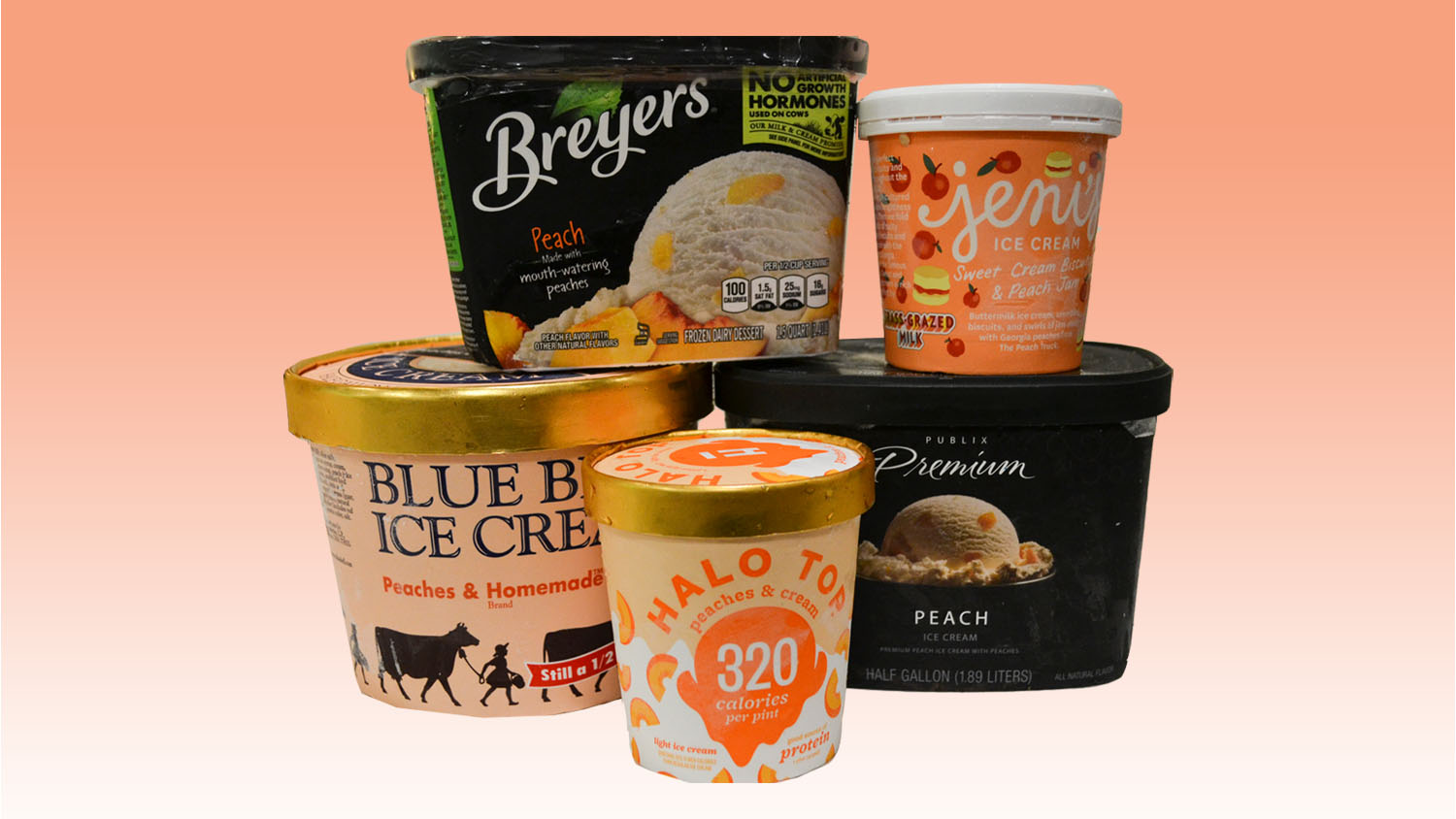 We Tasted 5 Peach Ice Creams, and These Are Our Favorites