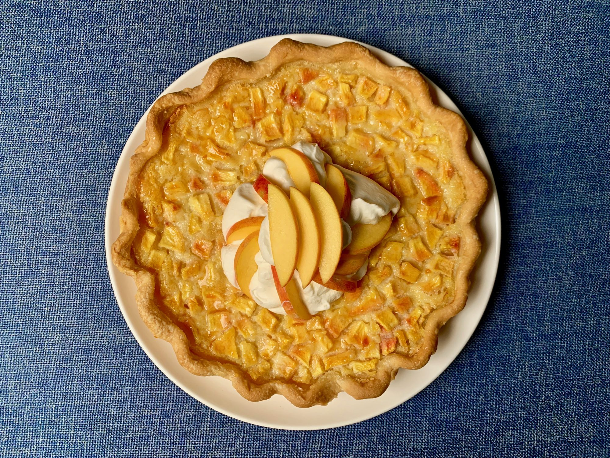 August: Peaches and Cream Pie