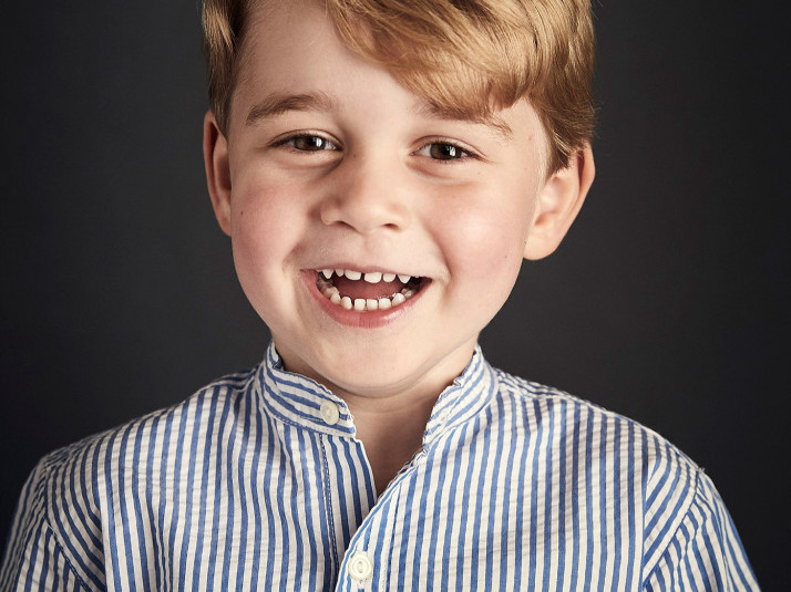 Prince George's Not-So-Shy Birthday Photo Is Here — See How It Compares to His 4 Past Portraits! prince-george-portrait