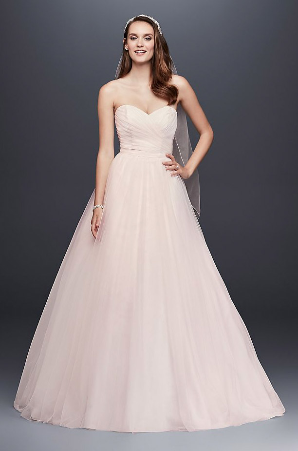 Strapless Sweetheart Tulle Wedding Dress