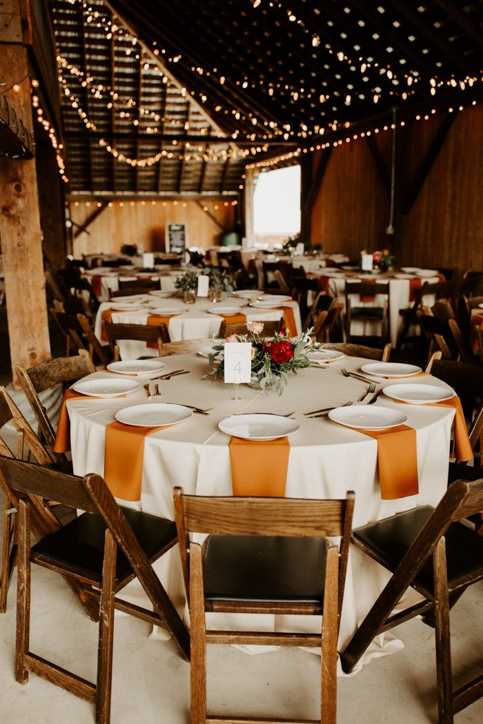 Terracotta-Colored Table Linens