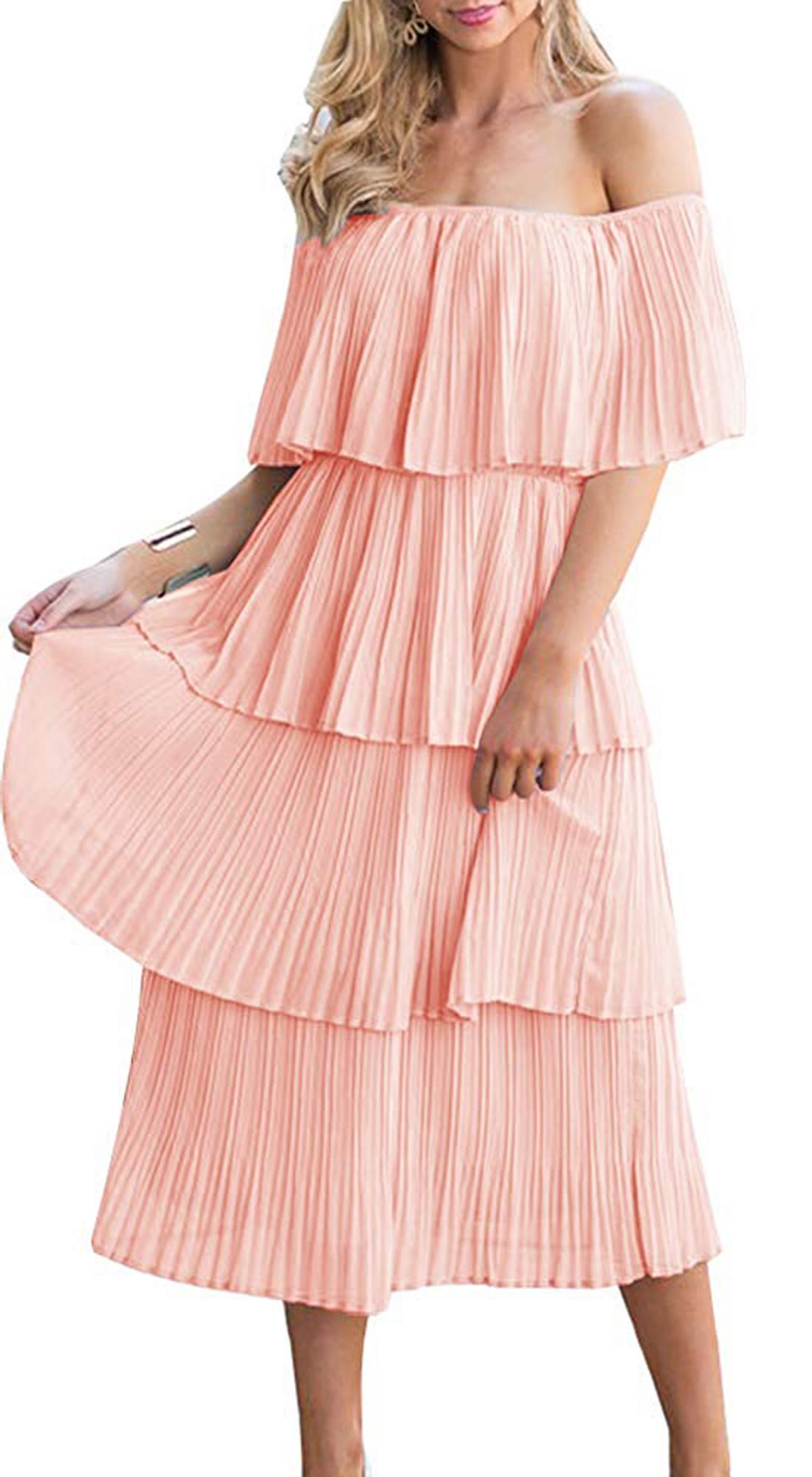 amazon ruffle midi dress