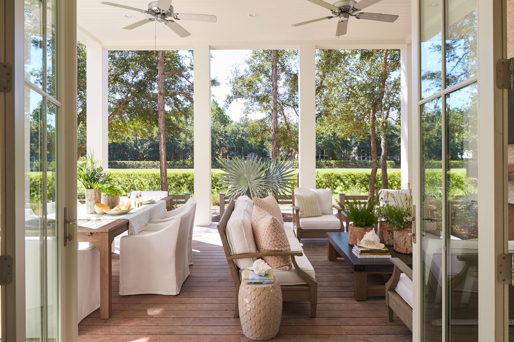 Maison Studio WaterColor, FL Back Porch Outdoor Living Space