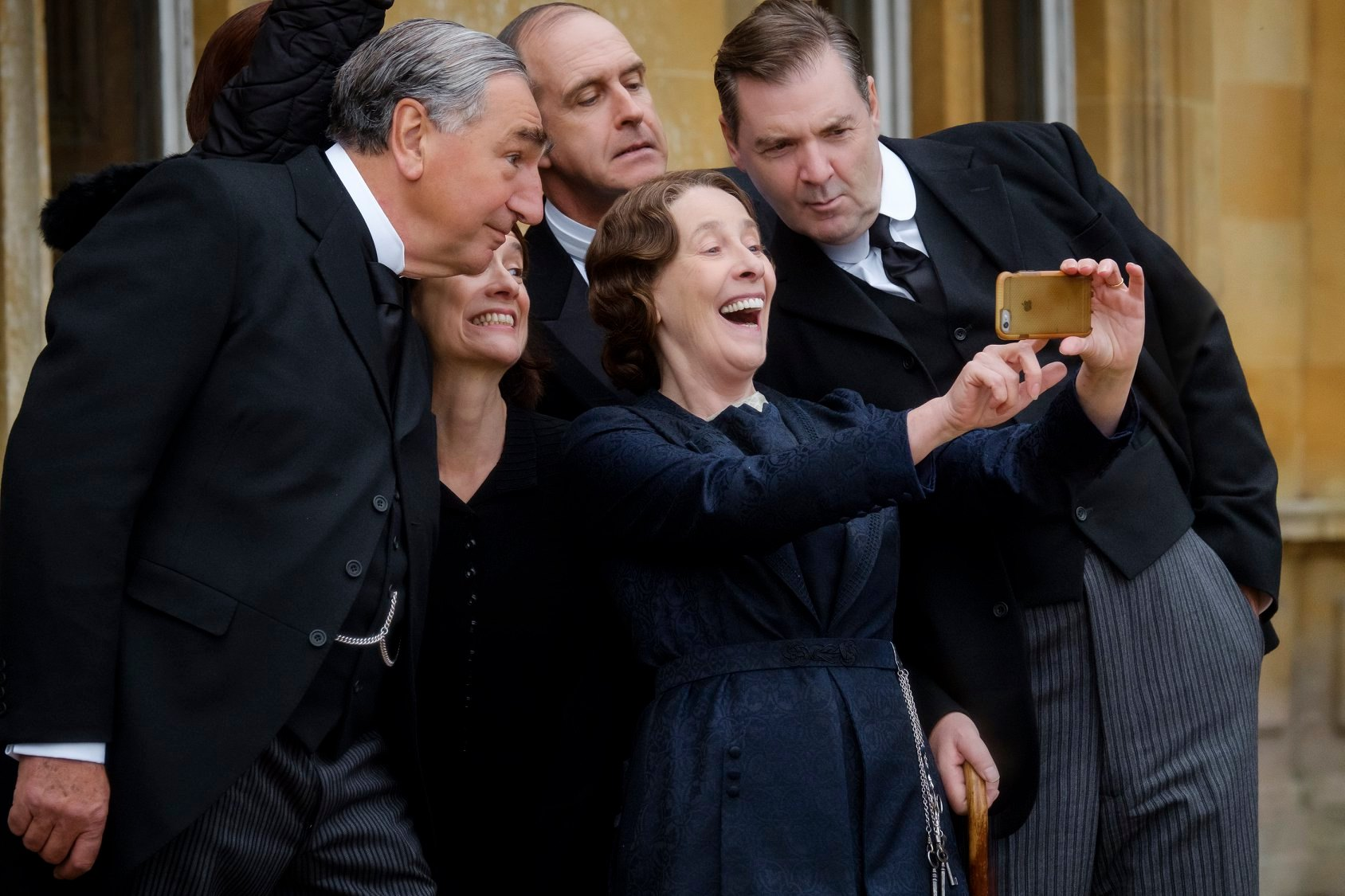 Downton Abbey Movie Cast Selfie