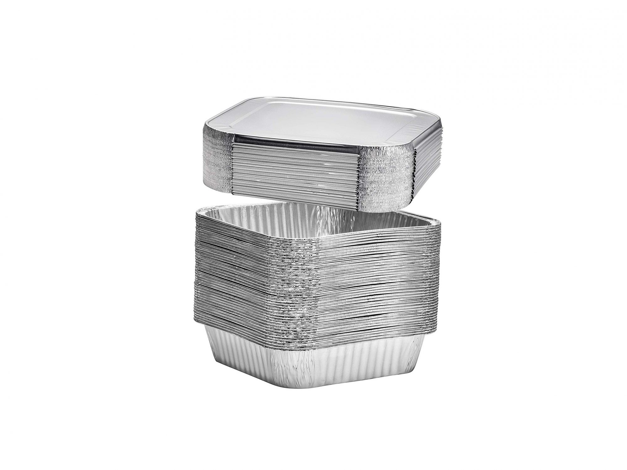 Square Disposable Aluminum Cake Pans with Lids
