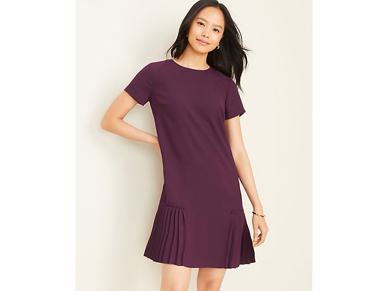 Ann Taylor Pleated Shift Dress