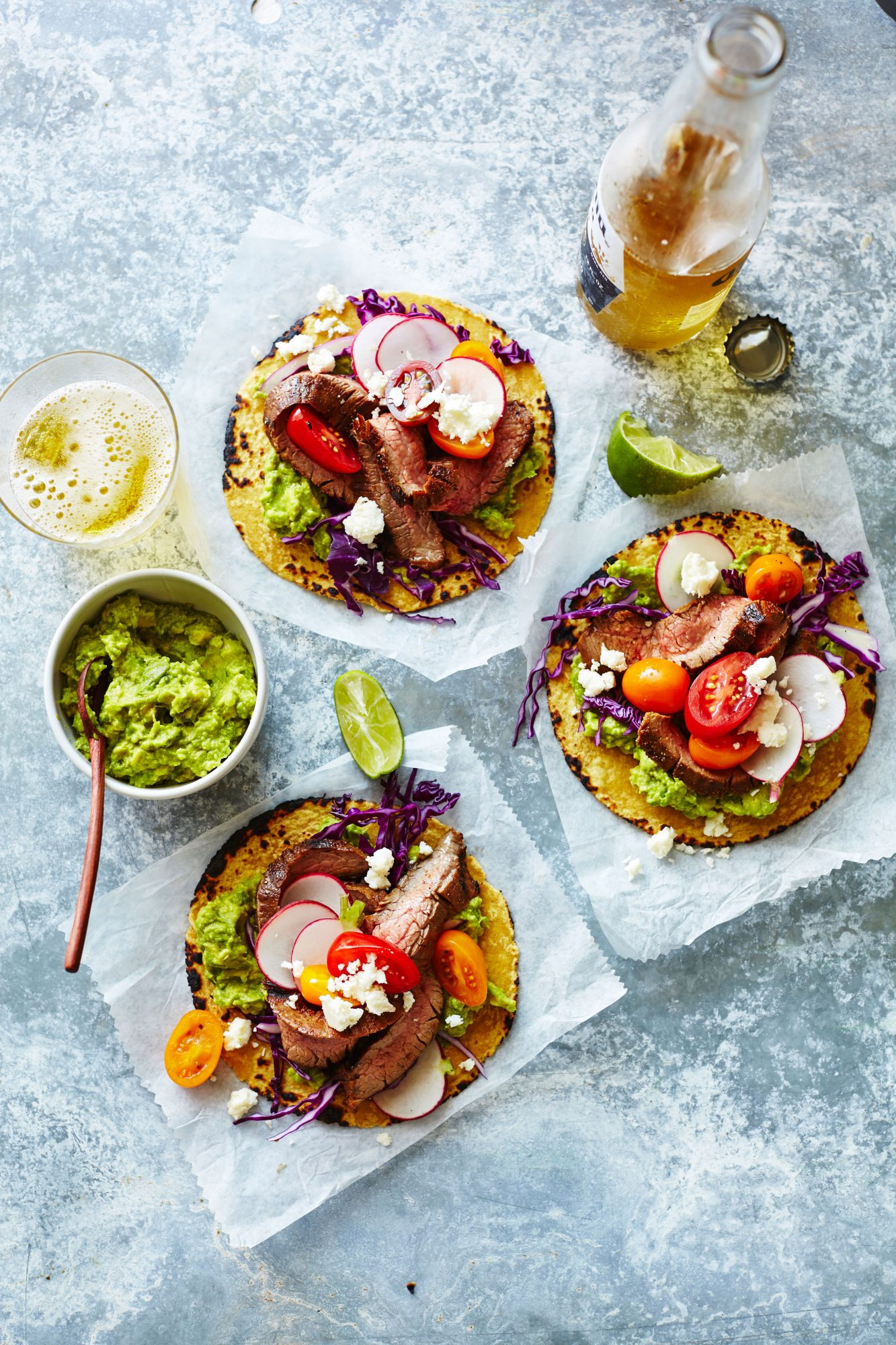 Flank Steak Tostadas