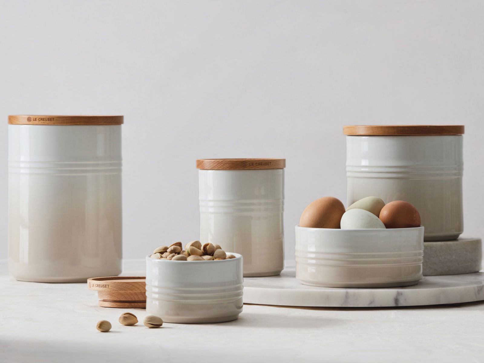 Le Creuset canisters