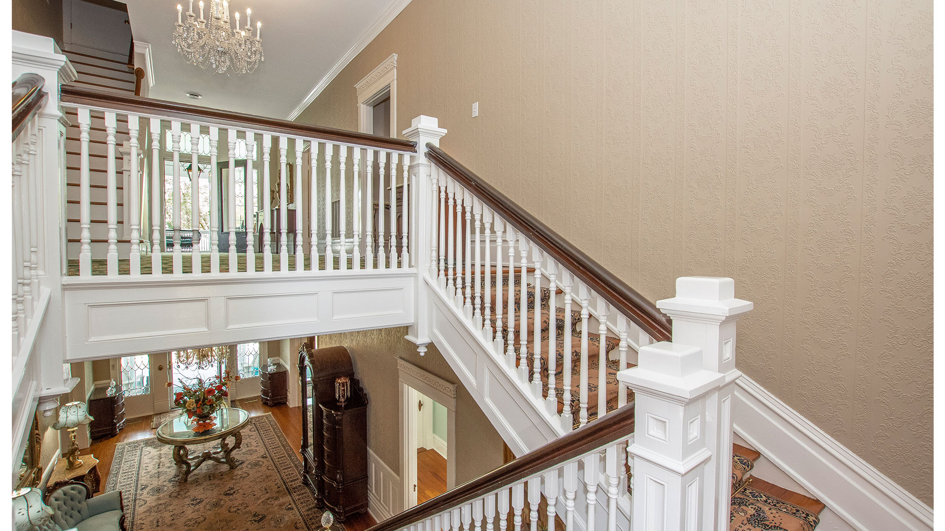 Dr Stanley House Four Oaks Second-Floor Staircase